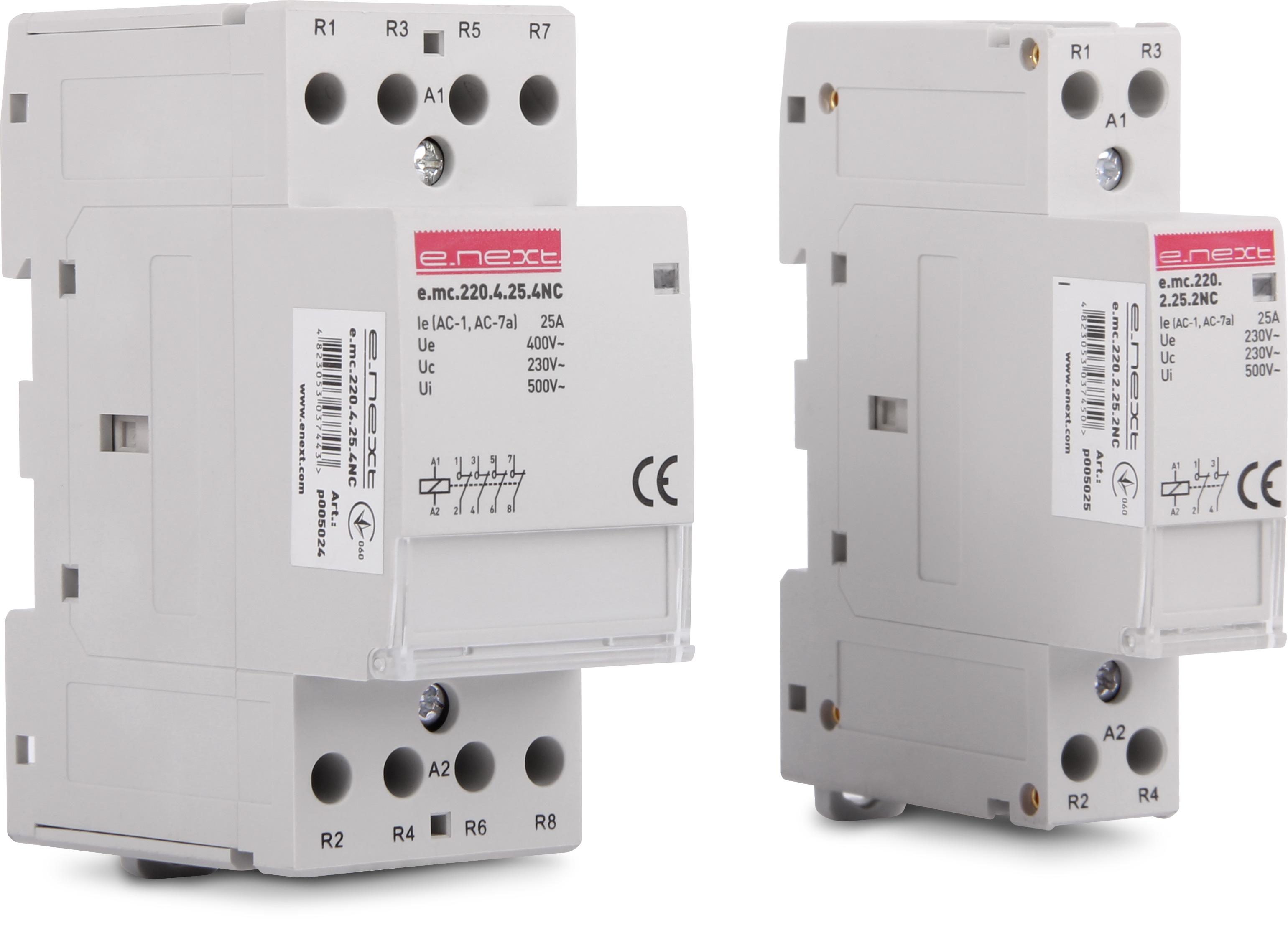 Полная линейка модульных контакторов компании ENEXT.
