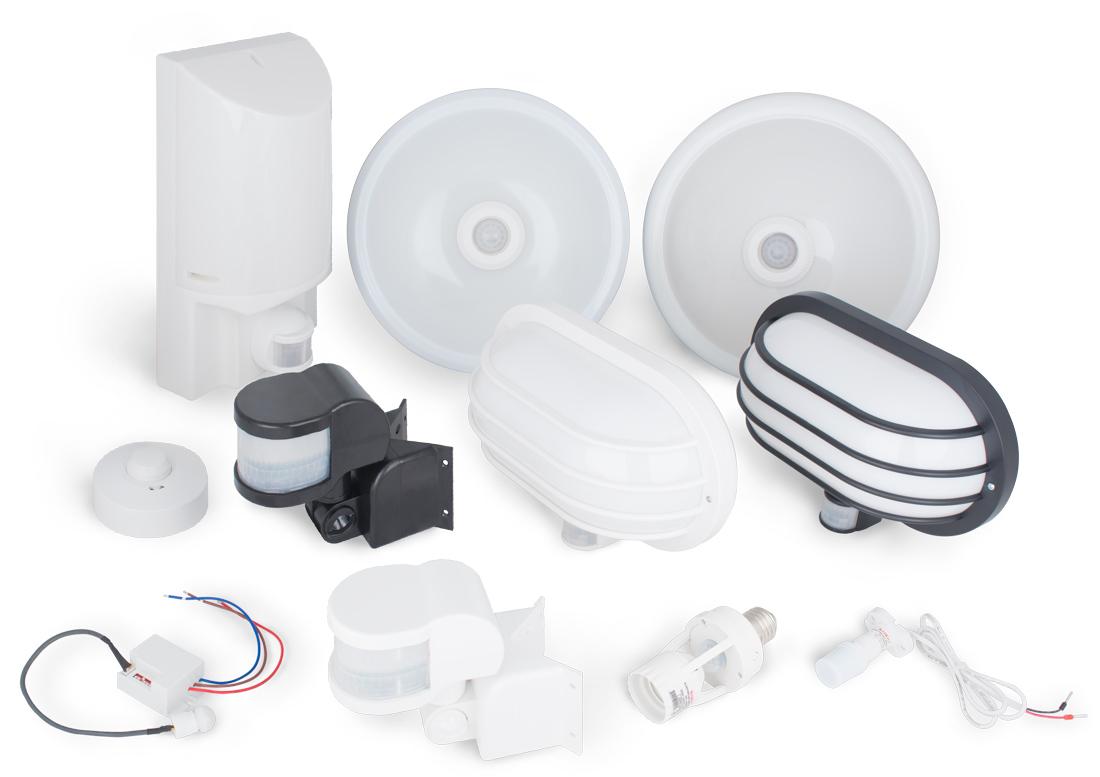 Новый ассортимент светильников и датчиков движения e.next
